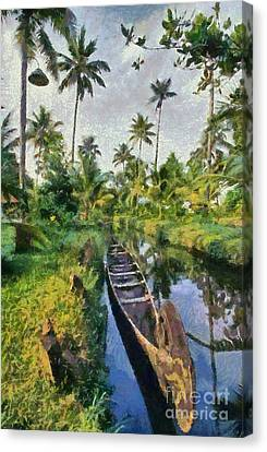 In The Backwaters Of Kerala Canvas Print