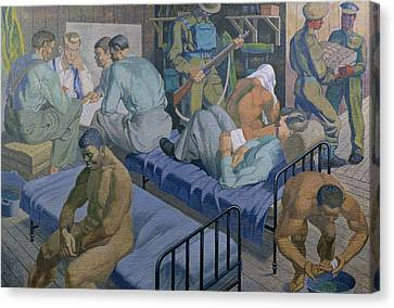 In The Barracks, 1989 Canvas Print by Osmund Caine