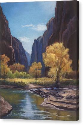 In The Bend Zion Canyon Canvas Print