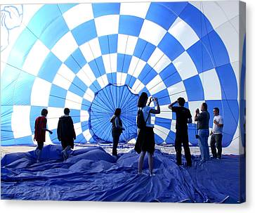 Canvas Print featuring the photograph In The Blue by Christopher McKenzie