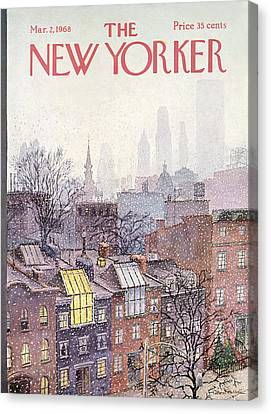 City Canvas Print - In The Borough by Albert Hubbell