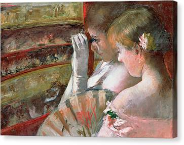 In The Box Canvas Print by Mary Stevenson Cassatt