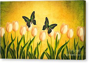 In The Butterfly Garden Canvas Print
