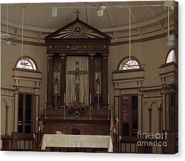 In The Cathedral Canvas Print by Steven Parker