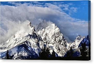 The Teton Range Canvas Print by Dan Sproul
