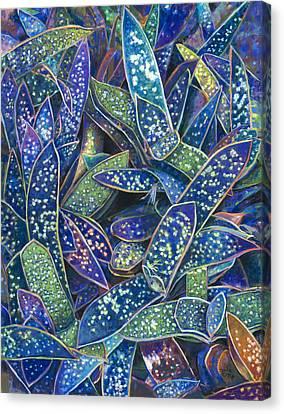In The Conservatory - 6th Center - Indigo Canvas Print