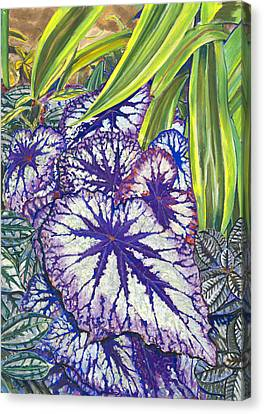 In The Conservatory-7th Center-violet Canvas Print