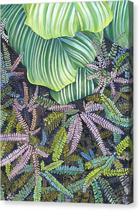 In The Conservatory - 4th Center - Green Canvas Print