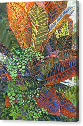 In The Conservatory - 2nd Center - Orange Canvas Print