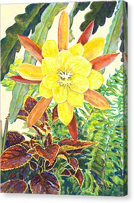In The Conservatory - 3rd Center - Yellow Canvas Print