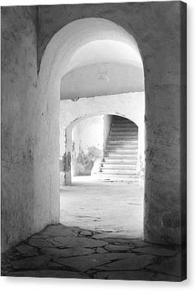 Portal Canvas Print - In The Convent Of Tepotzotlan, Mexico by Tina Modotti