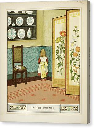 In The Corner Canvas Print by British Library
