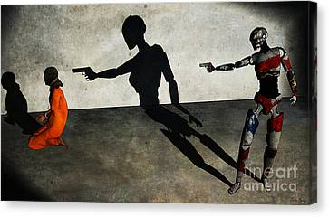 In The Crosshair Of A Nation Canvas Print by Sina Souza
