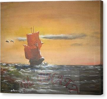 In The Deep Ocean Canvas Print by M Bhatt
