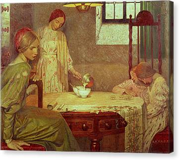 In The Depth Of Winter Canvas Print by Frederick Cayley Robinson