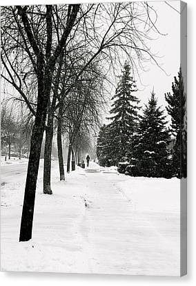 In The Distance Canvas Print by Eric Dewar