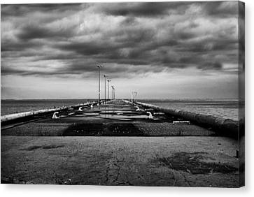 Glass And Metal Art Canvas Print - In The Distance by Jack Zulli