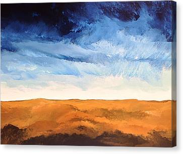 Canvas Print featuring the painting In The Distance by Linda Bailey