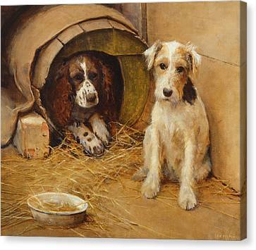 Breed Of Dog Canvas Print - In The Dog House by Samuel Fulton