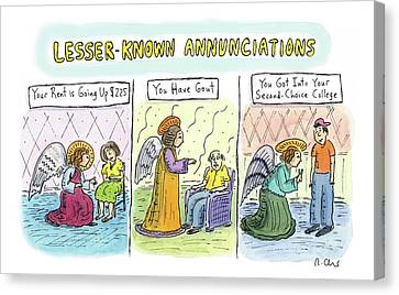 In The First Panel Canvas Print by Roz Chast