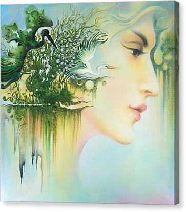 In The Fluter Of Wings-in The Silence Of Thoughts Canvas Print by Anna Ewa Miarczynska