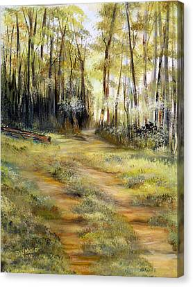 Canvas Print featuring the painting In The Forest by Dorothy Maier