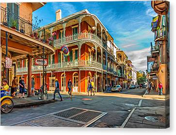 In The French Quarter - Paint Canvas Print by Steve Harrington