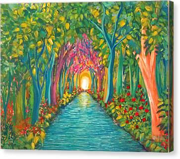 In The Garden Canvas Print by Deyanira Harris