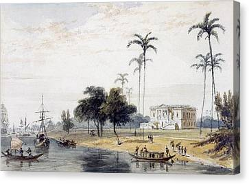 In The Garden House Reach, Calcutta Canvas Print