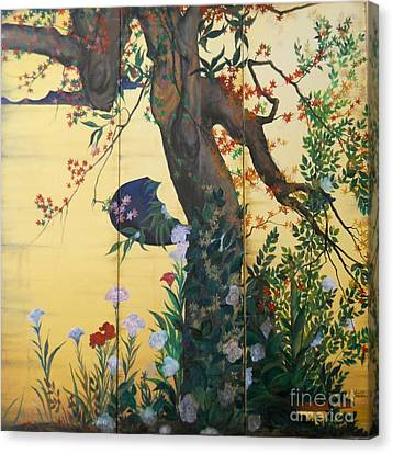 In The Garden Canvas Print by Sorin Apostolescu