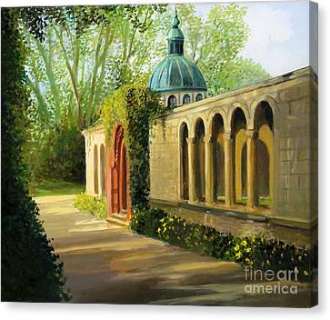 In The Gardens Of Sanssouci Canvas Print by Kiril Stanchev