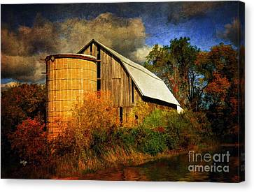 Rivers In The Fall Canvas Print - In The Gloaming by Lois Bryan