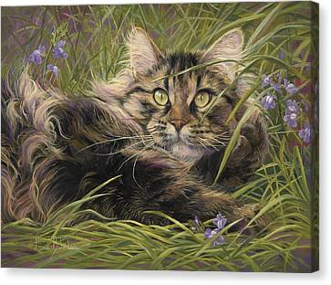 In The Grass Canvas Print by Lucie Bilodeau