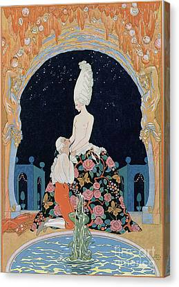 In The Grotto Canvas Print by Georges Barbier