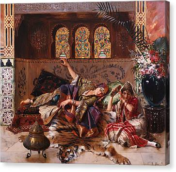 Islam Canvas Print - In The Harem by Rudolphe Ernst