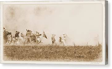 Canvas Print featuring the photograph In The Heat Of Battle by Judi Quelland