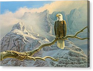 In The High Country-eagle Canvas Print by Paul Krapf