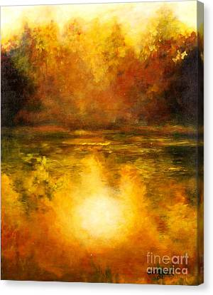 Canvas Print featuring the painting In The Light Of Day by Alison Caltrider
