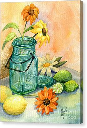 In The Lime Light Canvas Print by Marilyn Smith