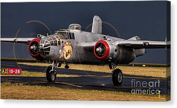 In The Mood - B-25 Canvas Print