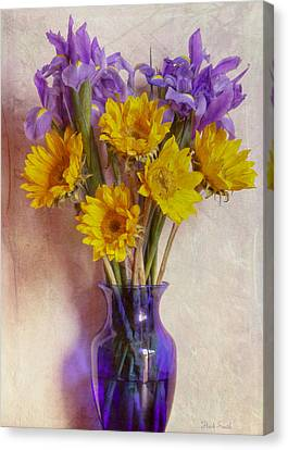 Purple. Iris. Buds Canvas Print - In The Mood For Spring by Heidi Smith