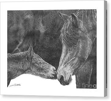 Canvas Print featuring the drawing in the name of Love by Marianne NANA Betts
