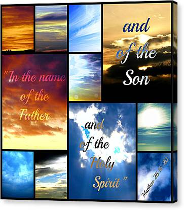In The Name Of The Father Son Holy Spirit Canvas Print