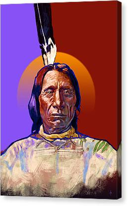 In The Name Of The Great Spirit Canvas Print by Arie Van der Wijst