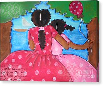 Jackson Canvas Print - in the park by the sea by Elaine Jackson by Elaine Jackson