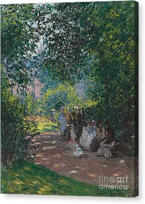 In The Park Monceau Canvas Print by Cluade Monet