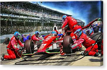 In The Pits  Canvas Print by Tom Sachse