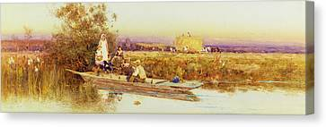 In The Punt Canvas Print by Thomas James Lloyd