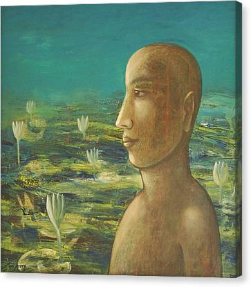 Canvas Print featuring the painting In The Realm Of Buddha by Mini Arora