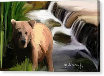In The River Canvas Print by Nydia Williams